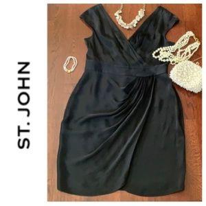 ST. JOHN Black Dress